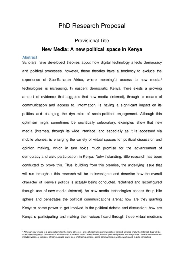 Abstract - PhD Research Proposal