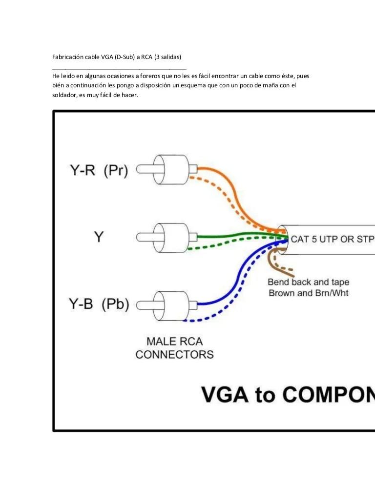 vga to rca wiring diagram 2000 camaro engine fabricación cable