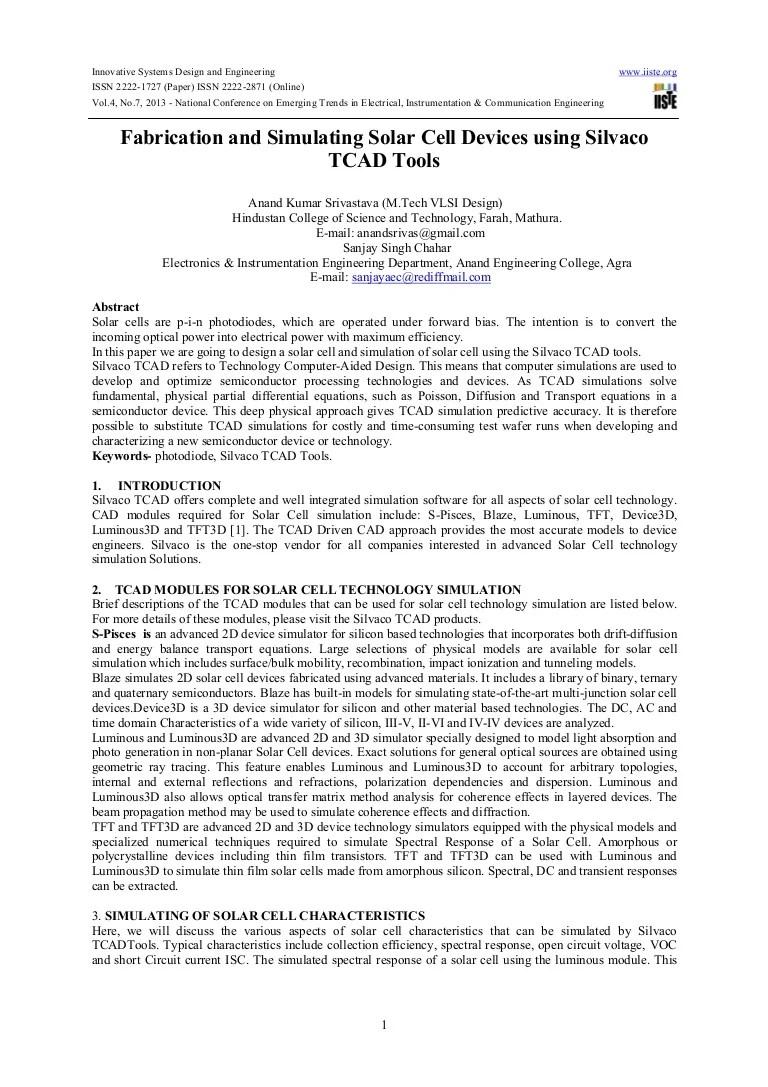Fabricationandsimulatingsolarcelldevicesusingsilvacotcadtools 130617072828 Phpapp02 Thumbnail 4 ?cb=1371454241