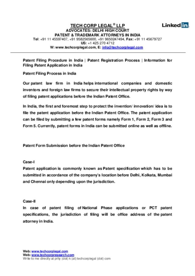 Filing Patent Application in India Patent Filing Services Patent R