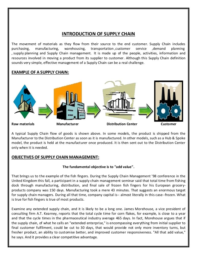 Report: Supply Chain of Nestle Milk Pack
