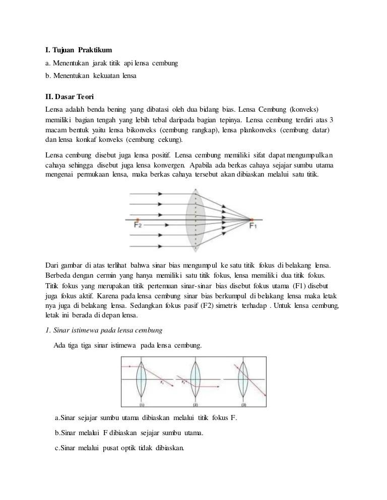Laporan Praktikum Lensa Cembung : laporan, praktikum, lensa, cembung, Laporan, Fisika, Lensa, Cembung