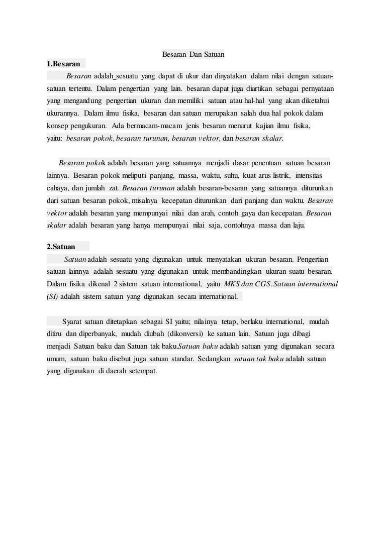 Syarat-syarat Satuan Baku : syarat-syarat, satuan, Fisika, Dasar