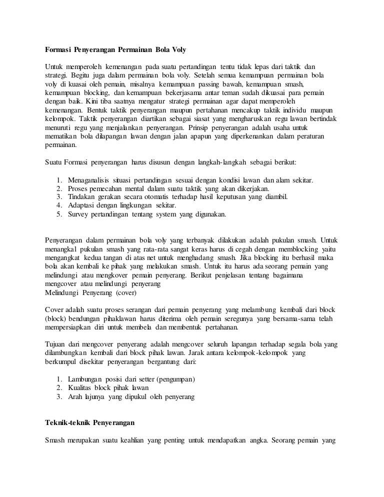 Formasi Dalam Permainan Bola Voli : formasi, dalam, permainan, Formasi, Penyerangan, Permainan