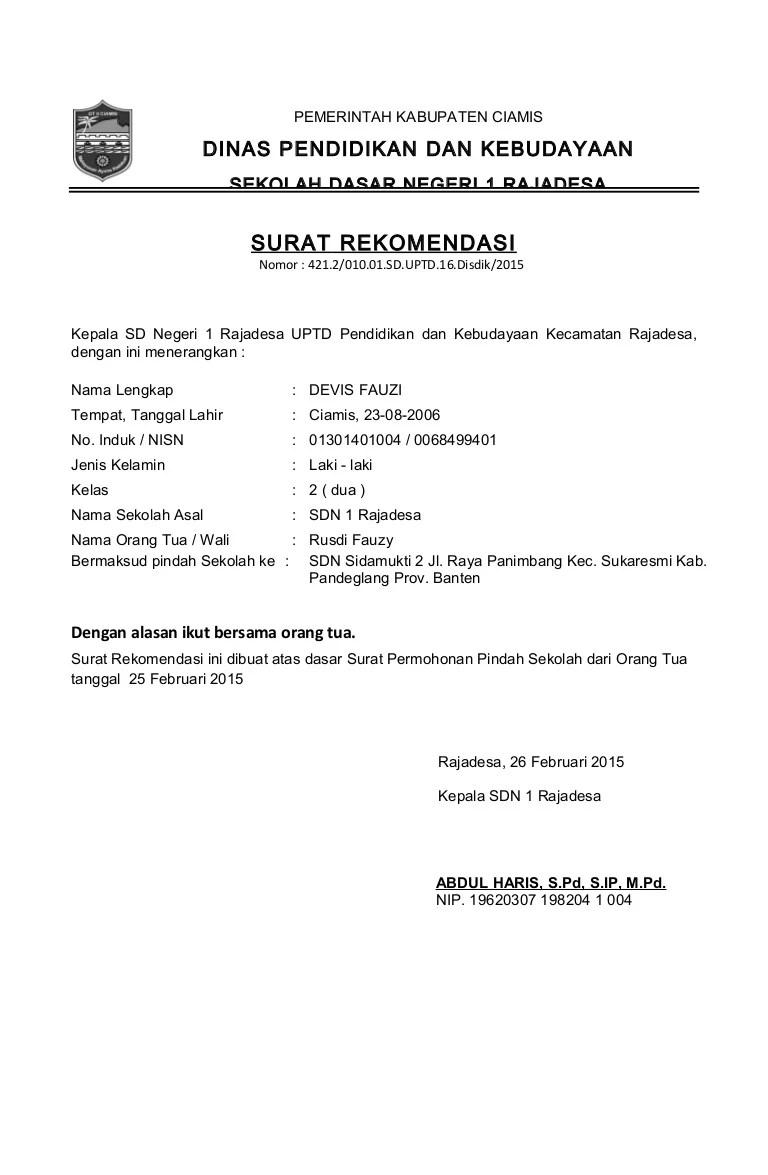 Format Contoh Surat Dan Mutasi 2015 Copy
