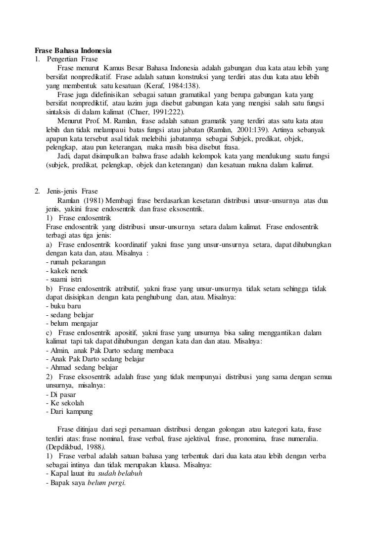 Frasa Numeralia : frasa, numeralia, Frase, Bahasa, Indonesia