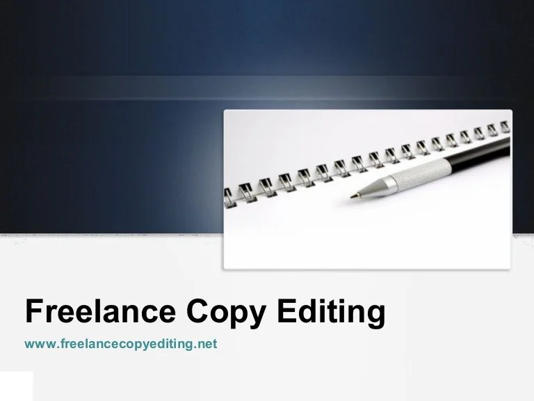 Freelance Copy Editor Cover Letter