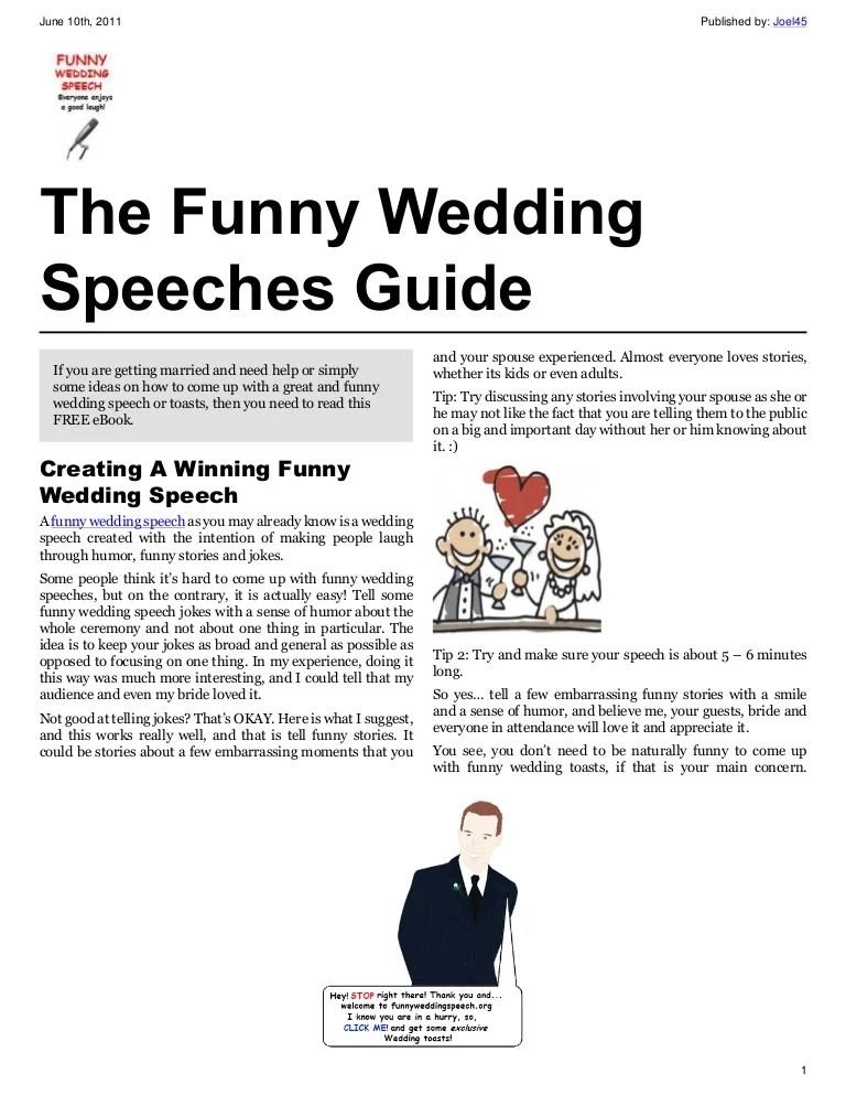 Funny Speech About Love : funny, speech, about, Funny, Wedding, Speeches, Guide