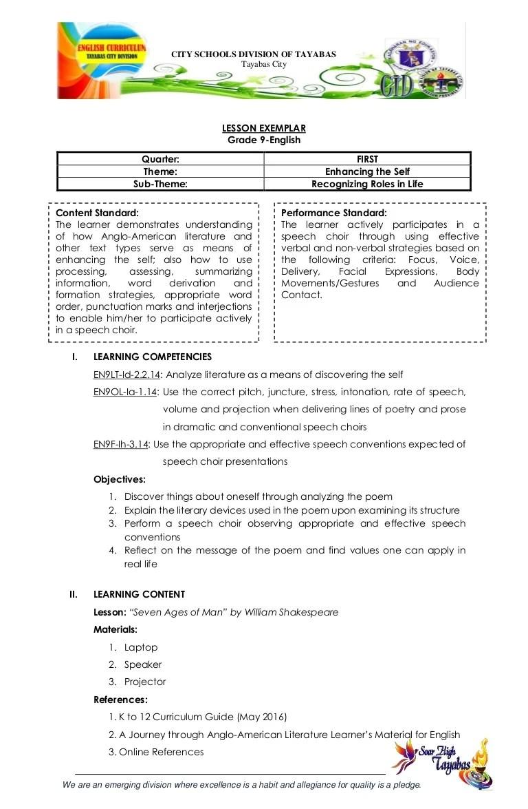 small resolution of G9 english lesson exemplar 1st quarter