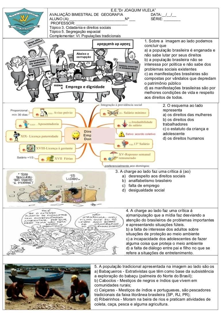 Gabarito prova cidadania direitos_segregaao_populaoes