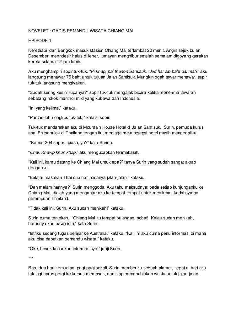 Novelet Gadis Pemandu Wisata Chiang Mai