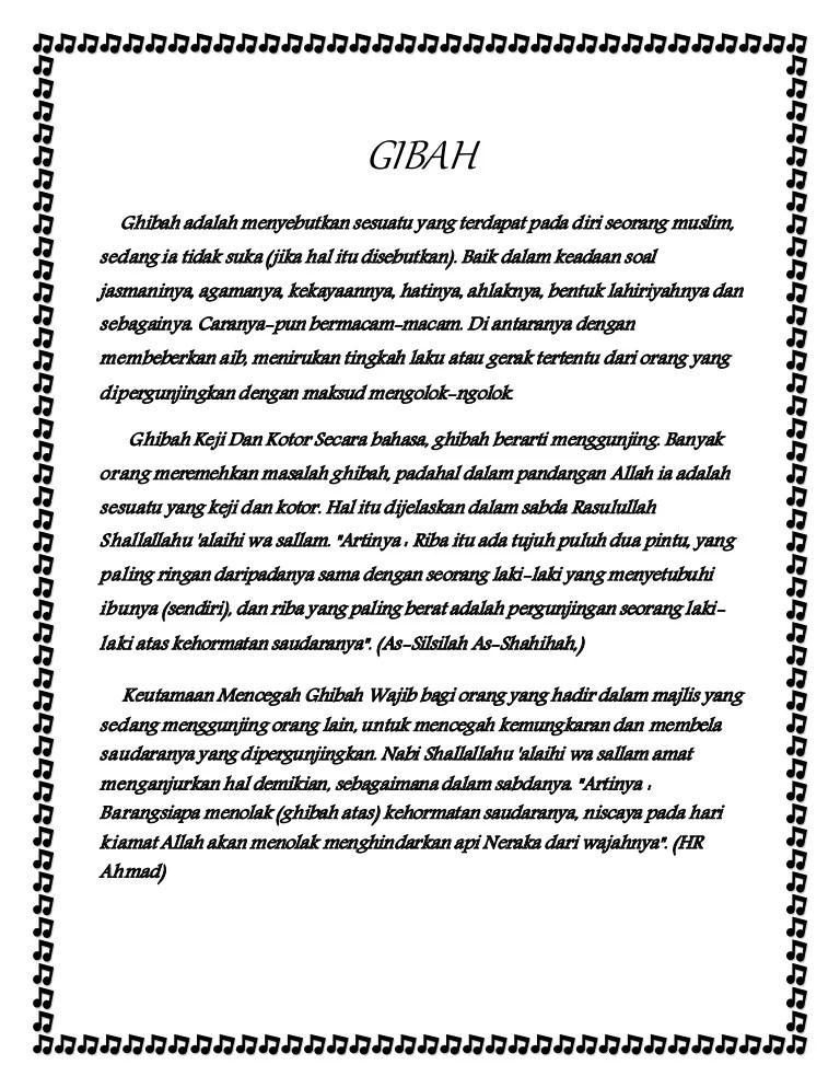 Definisi Ghibah : definisi, ghibah, Gibah