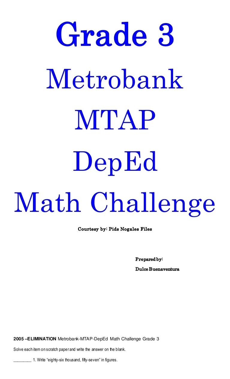 Grade 3 MTAP Reviewer [ 1265 x 768 Pixel ]