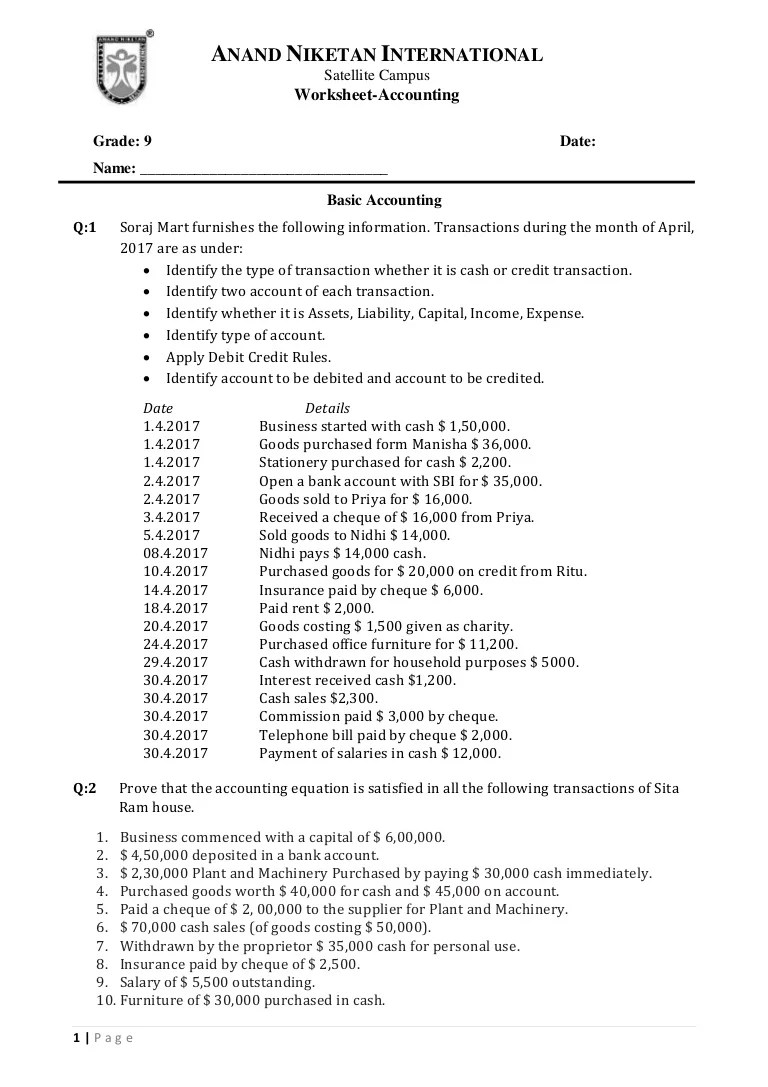 small resolution of Grade 9 basic accountig questions.doc