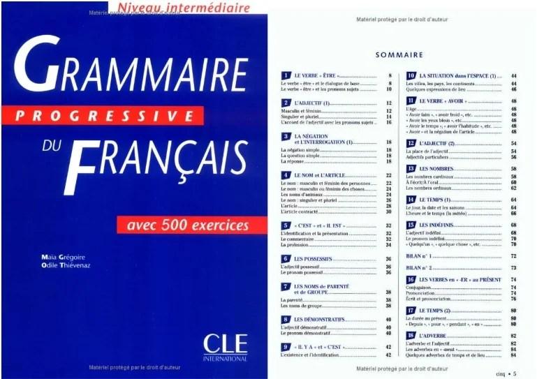 Grammaire Progressive Du Francais Niveau Intermediaire 600