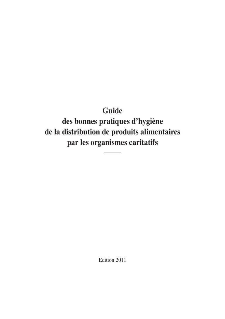Guide Des Bonnes Pratiques D Hygiène : guide, bonnes, pratiques, hygiène, Guide, Bonne, Pratique, Hygiène