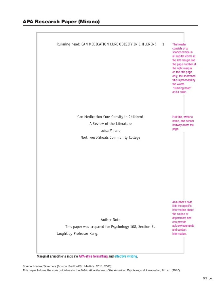 APA Citation Paper
