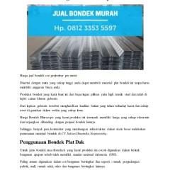 Harga Baja Ringan Buat Ngecor Bondek Bluescope Hp 0812 3353 5597