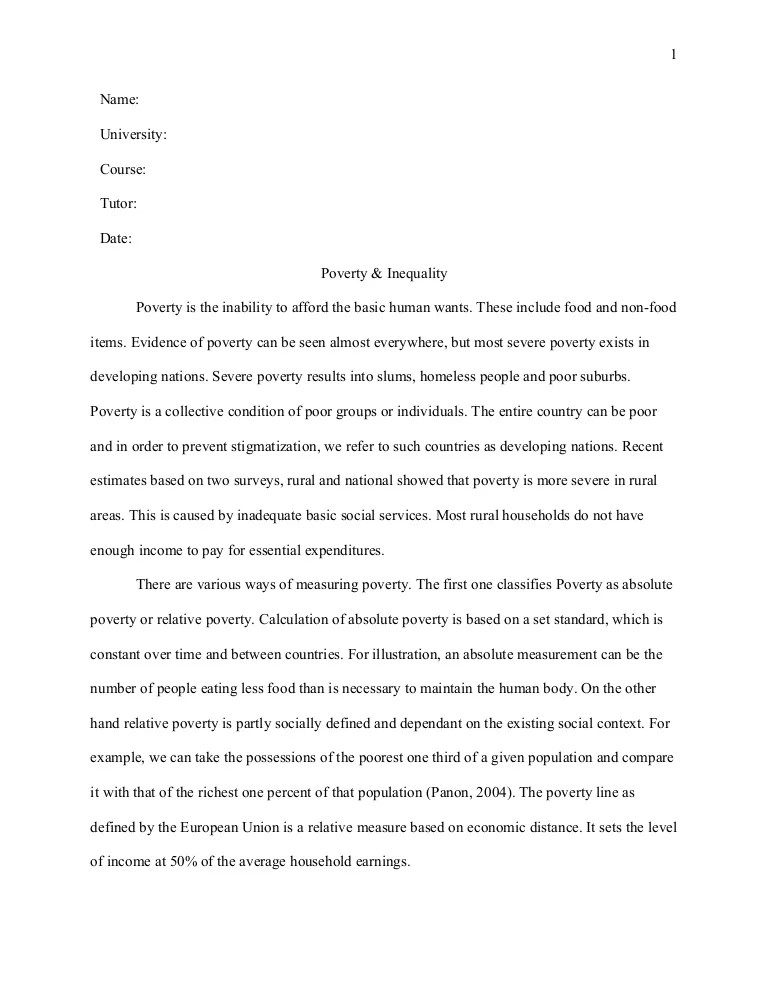 Poverty Essays Essay On Poverty Solutions The Singer Solution To