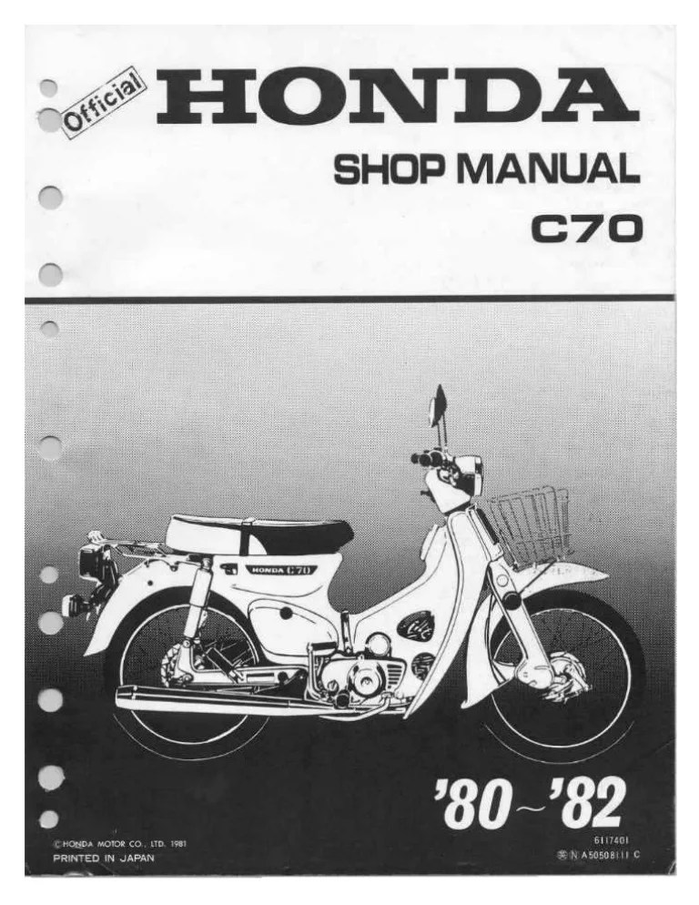 Honda C100 Wiring Diagram Honda Cup C70 Passport 80 81 Service Manual