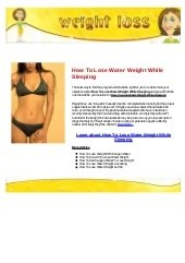 How to lose water weight while pregnant