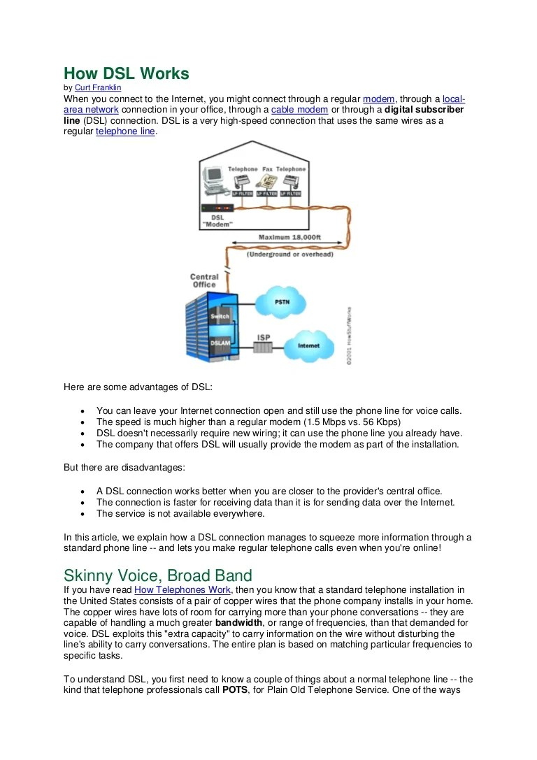 small resolution of how dsl works diagram wiring diagrams dsl connection diagram how dsl works diagram