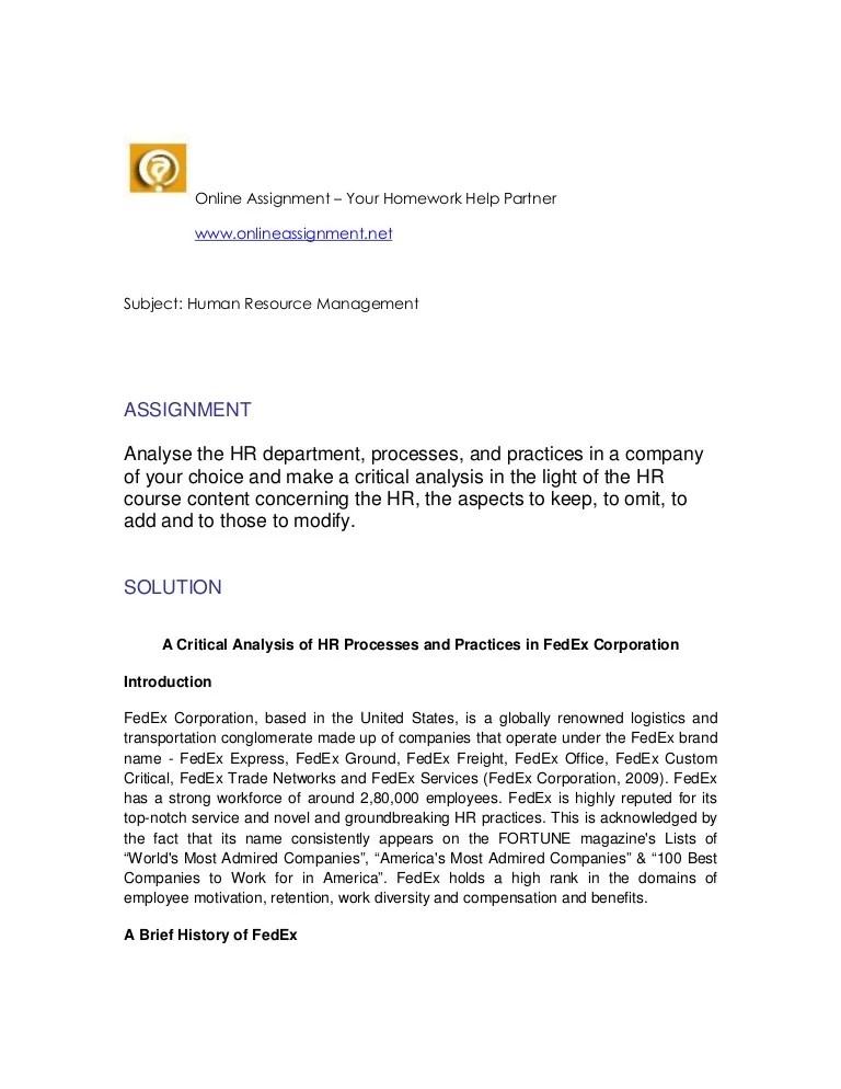 Human Resourse Management Assignment Help