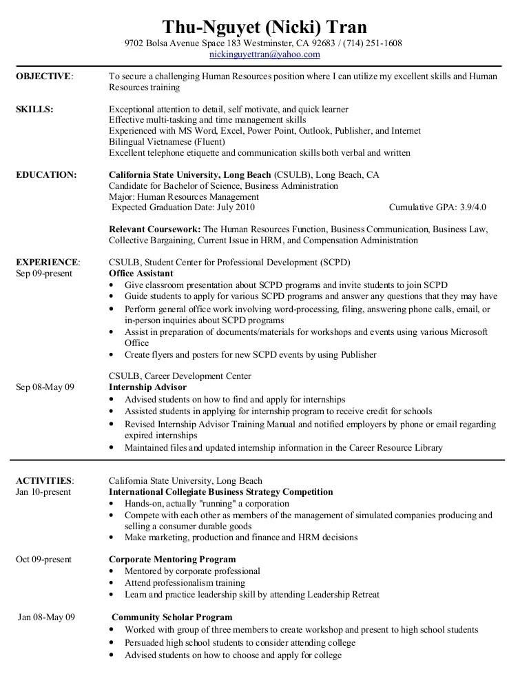 HR Resume
