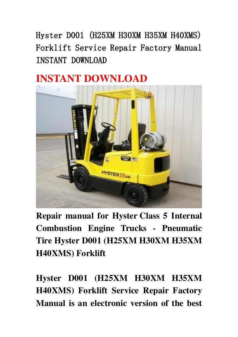 medium resolution of hyster 50 forklift wiring diagram