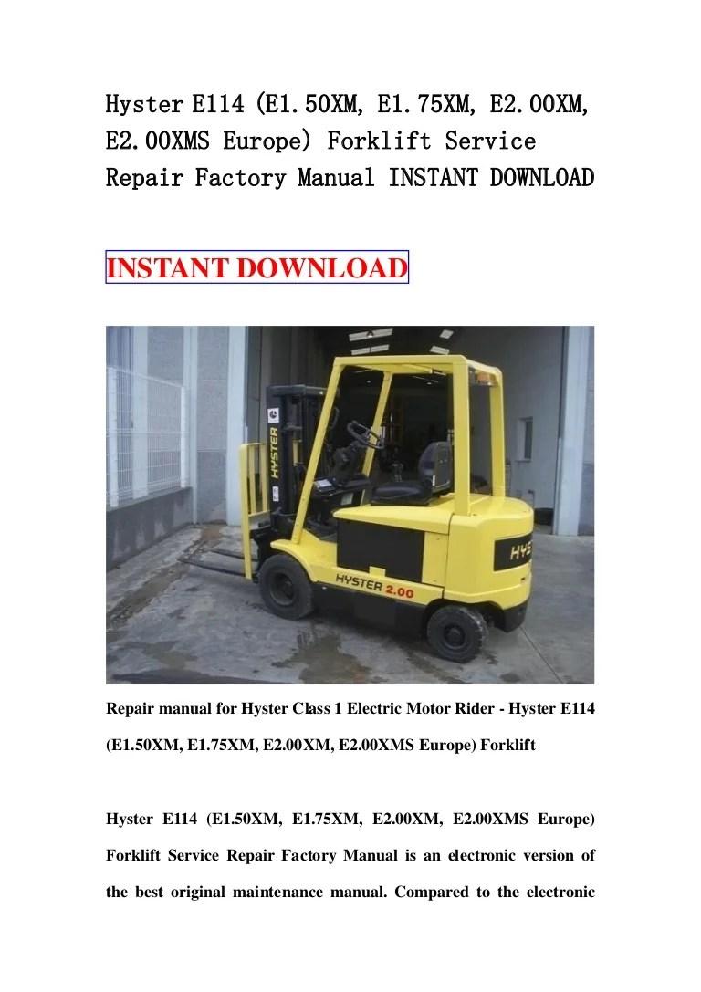 hyster s50xm forklift wiring diagram ezgo electric golf cart 50 starter xm 18 6 kenmo lp de for online rh 12 3 lightandzaun engine repair manuals