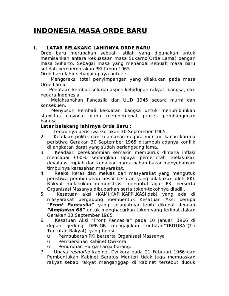 Penyimpangan Pada Masa Orde Baru : penyimpangan, Indonesia, Masa-orde-baru