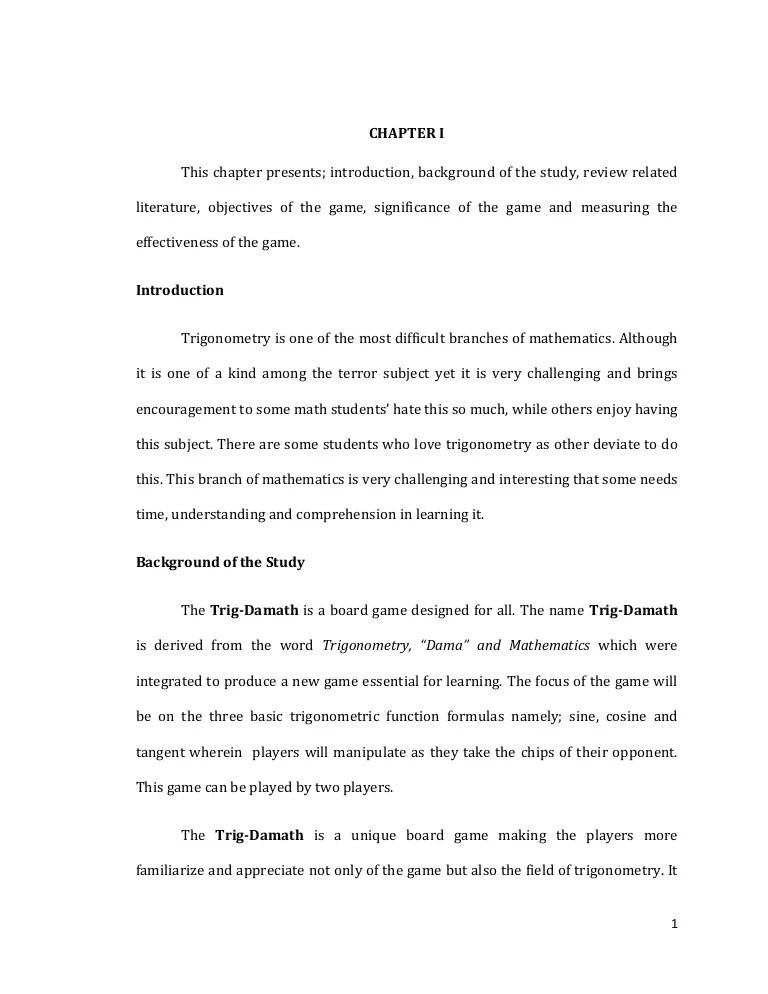 Investigatory Project Trig DaMath