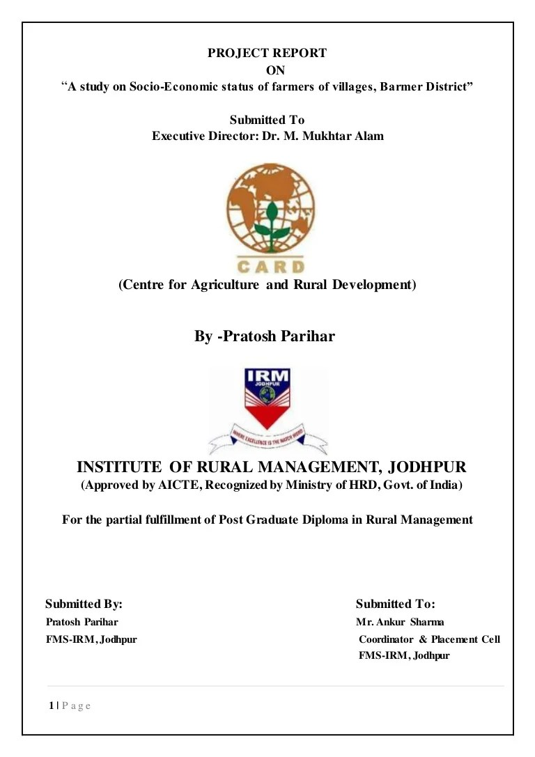 hight resolution of a study on socio economic status of farmers of villages in jaisalmair district of rajasthant