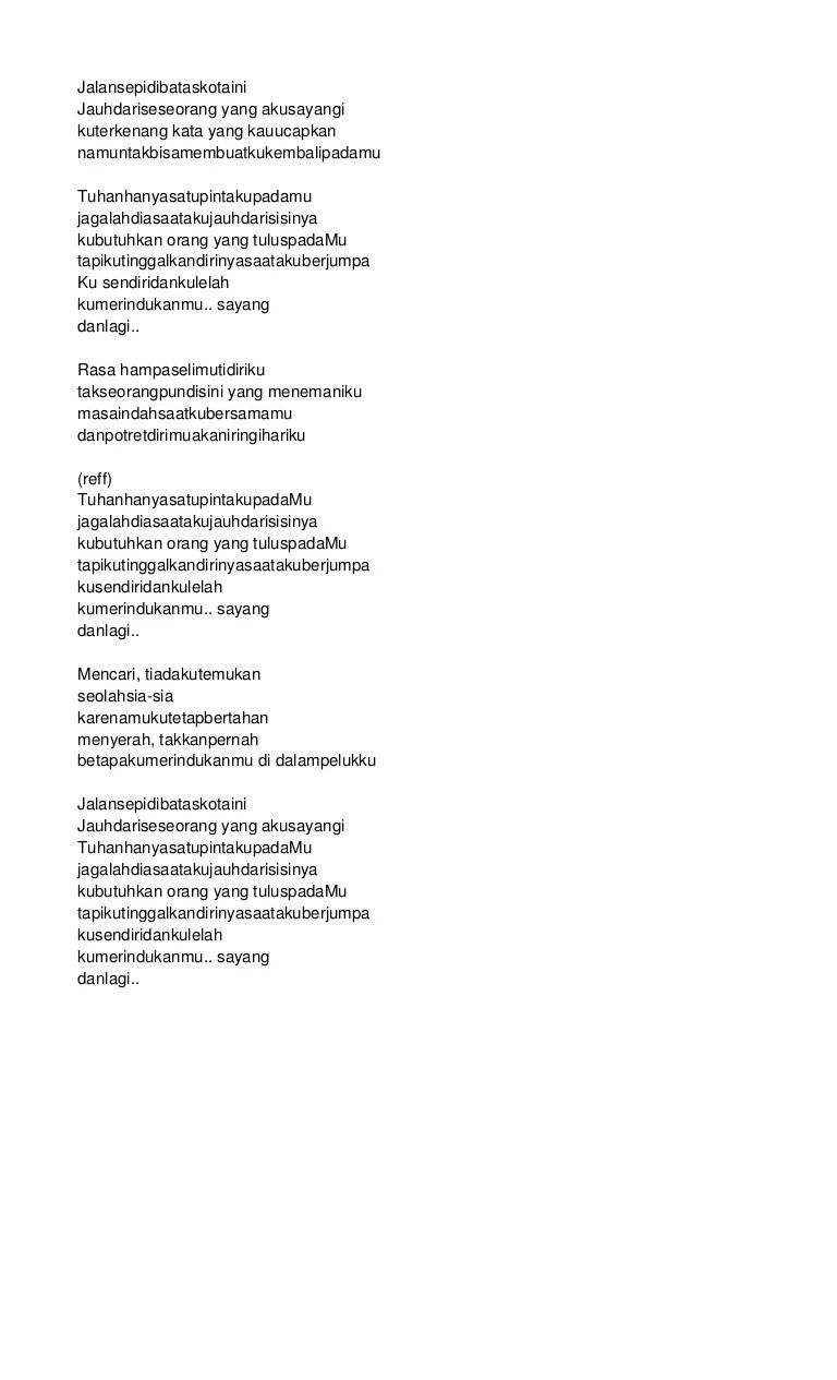 Lirik Di Batas Kota Ini : lirik, batas, Jalan, Dibatas