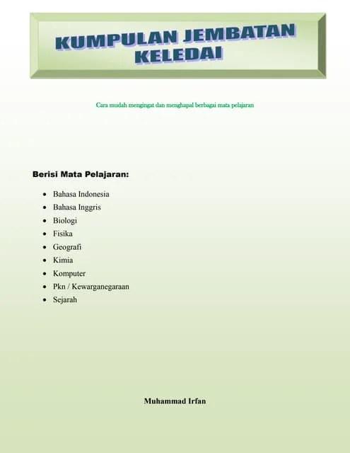 Jembatan Keledai Tabel Periodik : jembatan, keledai, tabel, periodik, Jembatan, Keledai, Biologi, Fisika, Kimia