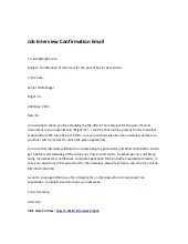 job interview confirmation email sample
