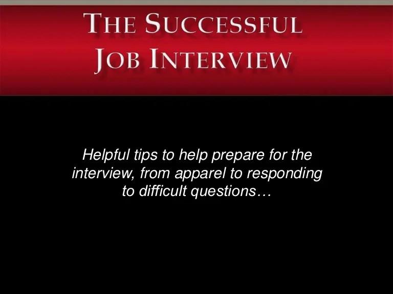 Job Interview Slide Show