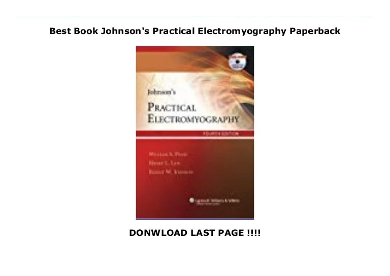 Best Book Johnson's Practical Electromyography Paperback