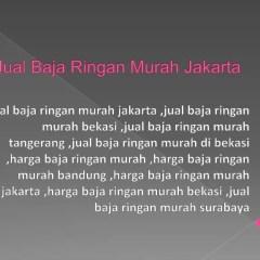 Jual Baja Ringan Bekasi Murah Jakarta