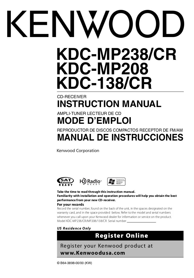 kenwood kdc 108 car stereo wiring diagram on switch bilge hd548u 138 manual user ~ elsavadorla