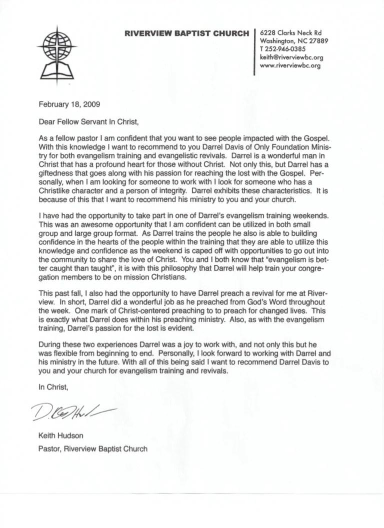 letter recommendation