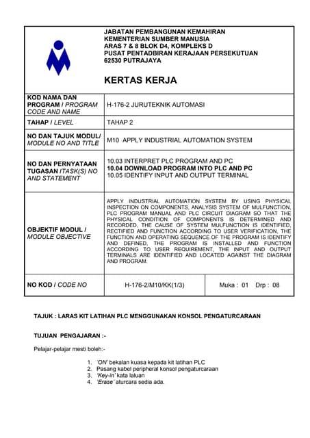 Contoh Format Borang Laporan Panitia Bahasa Melayu Projek Cuitan