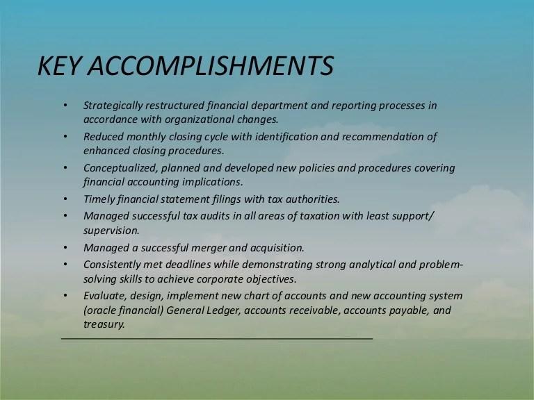 ACCOMPLISHMENTS & CAPABILITIES
