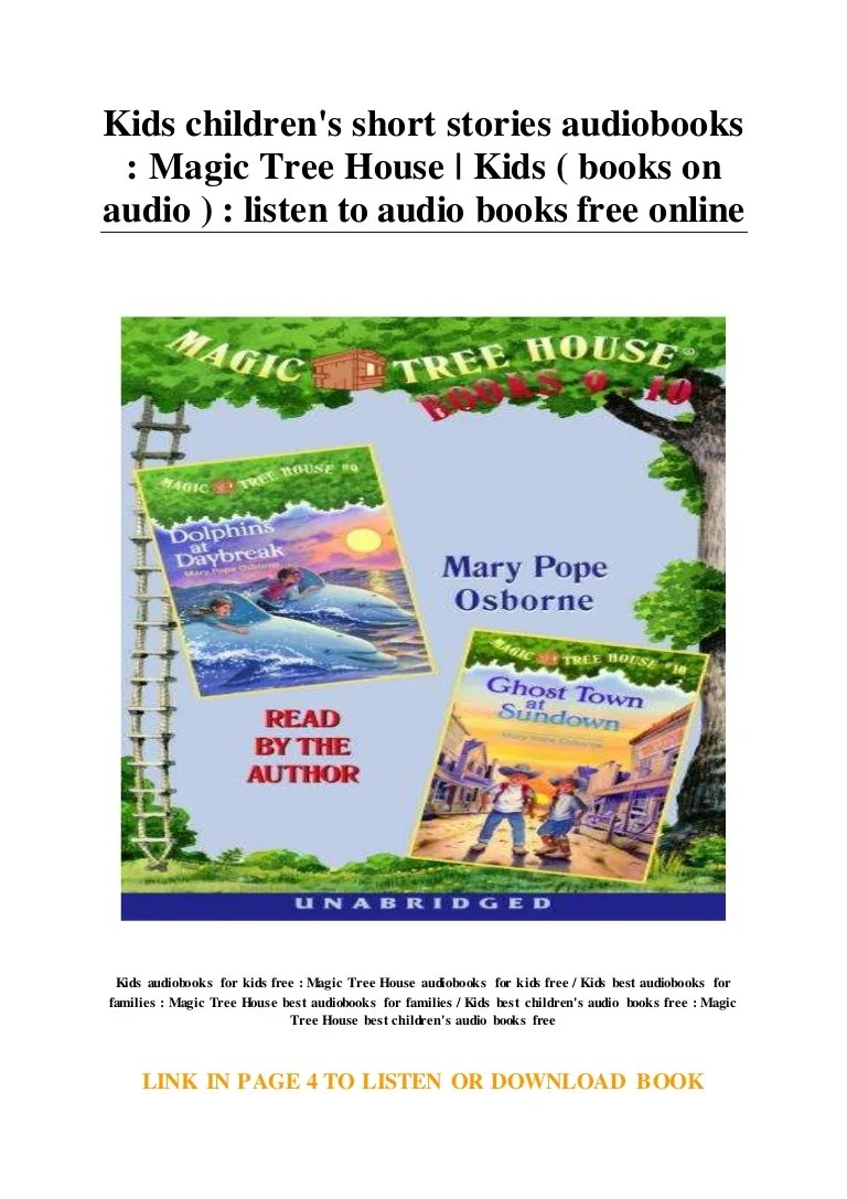 Kids Children S Short Stories Audiobooks Magic Tree House Kids