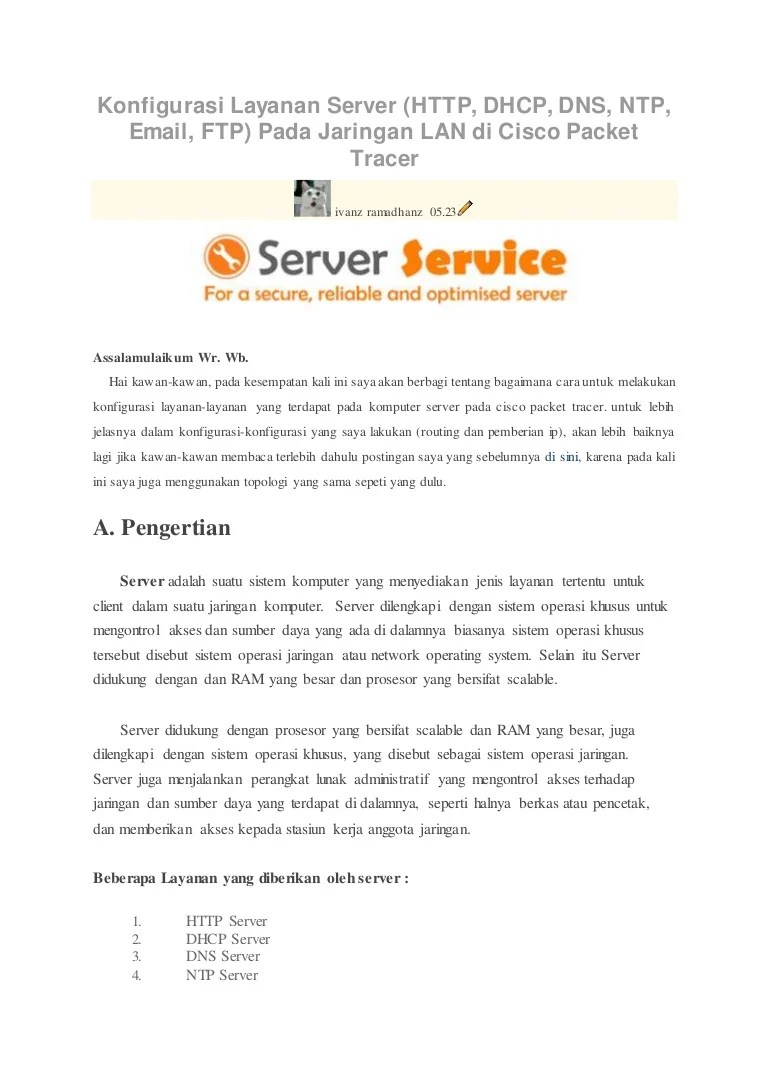 Cara Membuat Komputer Server Dan Client : membuat, komputer, server, client, Konfigurasi, Layanan, Server