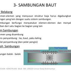 Ukuran Standar Baut Baja Ringan Konstruksi 3 Sambungan