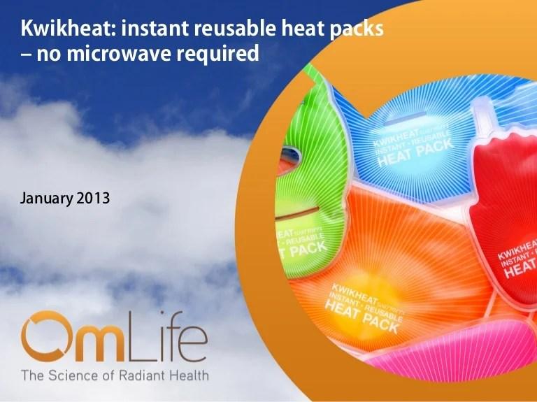 kwikheat instant reusable heat packs