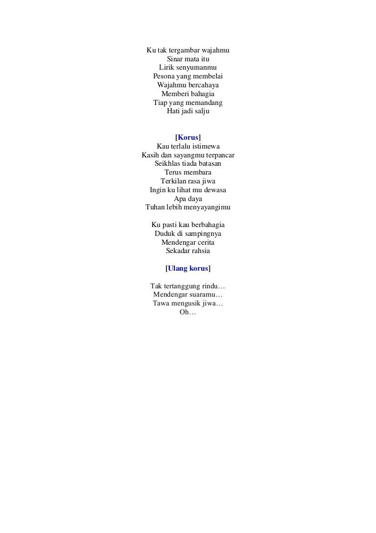 Lirik Lagu Istimewah : lirik, istimewah, Adibah