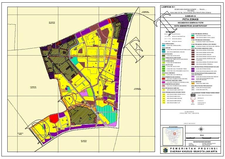 Lampiran III 1 Peta Zonasi Kecamatan