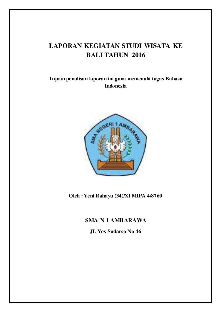 Karya Tulis Study Tour Bali : karya, tulis, study, LAPORAN, KEGIATAN, STUDI, WISATA, TAHUN
